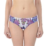 Stylized Floral Ornate Hipster Bikini Bottoms