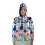 Colorful Diamonds Dream Hooded Wind Breaker (Women)