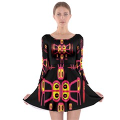 Alphabet Shirt R N R Long Sleeve Skater Dress by MRTACPANS