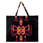 Alphabet Shirt R N R Zipper Large Tote Bag