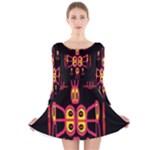 Alphabet Shirt R N R Long Sleeve Velvet Skater Dress