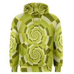 Crazy Dart Green Gold Spiral Men s Pullover Hoodie by designworld65