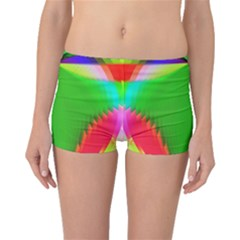 Colorful Abstract Butterfly With Flower  Boyleg Bikini Bottoms by designworld65