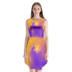 Colorful Universe Sleeveless Chiffon Dress   by designworld65