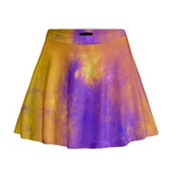 Colorful Universe Mini Flare Skirt by designworld65