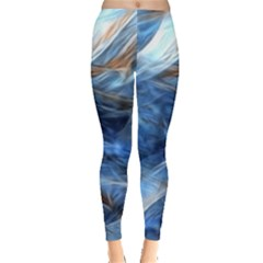 Blue Colorful Abstract Design  Leggings  by designworld65