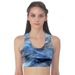Blue Colorful Abstract Design  Sports Bra by designworld65
