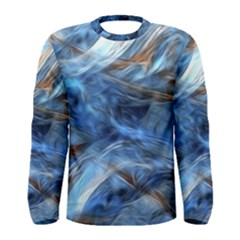 Blue Colorful Abstract Design  Men s Long Sleeve Tee by designworld65