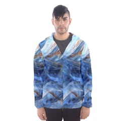 Blue Colorful Abstract Design  Hooded Wind Breaker (men) by designworld65