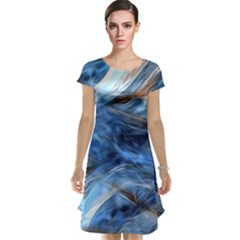 Blue Colorful Abstract Design  Cap Sleeve Nightdress by designworld65