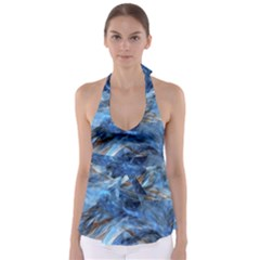 Blue Colorful Abstract Design  Babydoll Tankini Top by designworld65