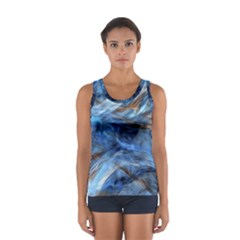 Blue Colorful Abstract Design  Women s Sport Tank Top  by designworld65