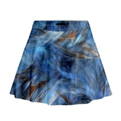 Blue Colorful Abstract Design  Mini Flare Skirt by designworld65