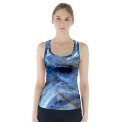 Blue Colorful Abstract Design  Racer Back Sports Top by designworld65