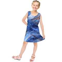 Blue Colorful Abstract Design  Kids  Tunic Dress by designworld65