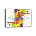 Crazy Multicolored Double Running Splashes Mini Canvas 6  x 4