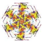 Crazy Multicolored Double Running Splashes Mini Folding Umbrellas