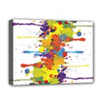 Crazy Multicolored Double Running Splashes Deluxe Canvas 16  x 12