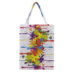Crazy Multicolored Double Running Splashes Classic Tote Bag by EDDArt