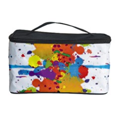 Crazy Multicolored Double Running Splashes Cosmetic Storage Case by EDDArt