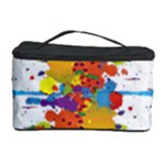 Crazy Multicolored Double Running Splashes Cosmetic Storage Case