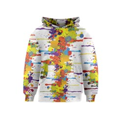 Crazy Multicolored Double Running Splashes Kids  Pullover Hoodie by EDDArt