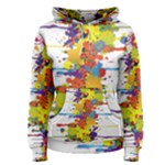 Crazy Multicolored Double Running Splashes Women s Pullover Hoodie