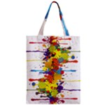 Crazy Multicolored Double Running Splashes Zipper Classic Tote Bag