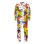 Crazy Multicolored Double Running Splashes OnePiece Jumpsuit (Kids)