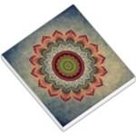 Folk Art Lotus Mandala Dirty Blue Red Small Memo Pads