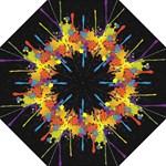 Crazy Multicolored Double Running Splashes Horizon Folding Umbrellas