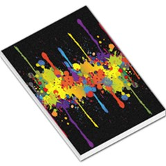 Crazy Multicolored Double Running Splashes Horizon Large Memo Pads by EDDArt