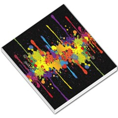 Crazy Multicolored Double Running Splashes Horizon Small Memo Pads by EDDArt