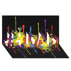 Crazy Multicolored Double Running Splashes Horizon #1 Dad 3d Greeting Card (8x4) by EDDArt