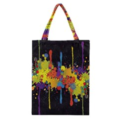 Crazy Multicolored Double Running Splashes Horizon Classic Tote Bag by EDDArt