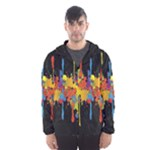 Crazy Multicolored Double Running Splashes Horizon Hooded Wind Breaker (Men)