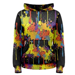 Crazy Multicolored Double Running Splashes Horizon Women s Pullover Hoodie by EDDArt