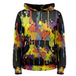 Crazy Multicolored Double Running Splashes Horizon Women s Pullover Hoodie