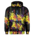 Crazy Multicolored Double Running Splashes Horizon Men s Zipper Hoodie