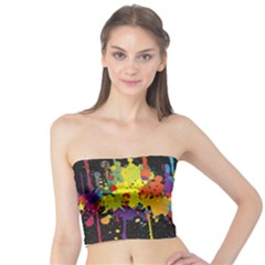 Crazy Multicolored Double Running Splashes Horizon Tube Top by EDDArt