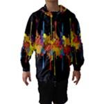 Crazy Multicolored Double Running Splashes Horizon Hooded Wind Breaker (Kids)