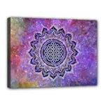 Flower Of Life Indian Ornaments Mandala Universe Canvas 16  x 12