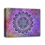 Flower Of Life Indian Ornaments Mandala Universe Deluxe Canvas 14  x 11