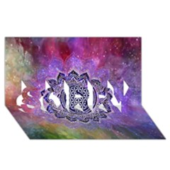 Flower Of Life Indian Ornaments Mandala Universe Sorry 3d Greeting Card (8x4) by EDDArt