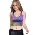 Flower Of Life Indian Ornaments Mandala Universe Racer Back Crop Top