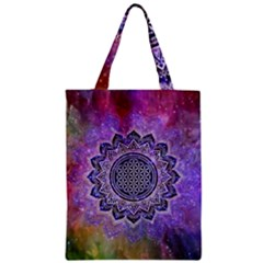 Flower Of Life Indian Ornaments Mandala Universe Classic Tote Bag by EDDArt
