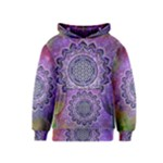 Flower Of Life Indian Ornaments Mandala Universe Kids  Pullover Hoodie