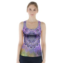 Flower Of Life Indian Ornaments Mandala Universe Racer Back Sports Top by EDDArt