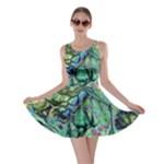 Fractal Batik Art Teal Turquoise Salmon Skater Dress