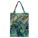 Fractal Batik Art Teal Turquoise Salmon Classic Tote Bag